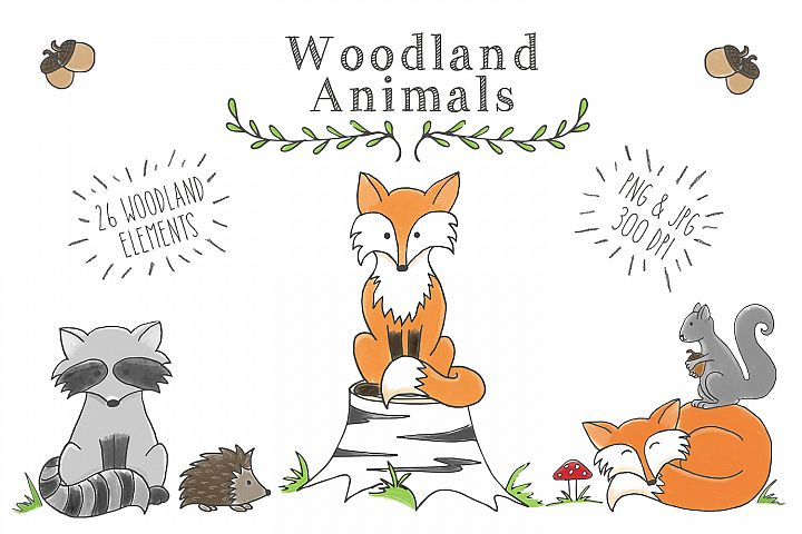 Woodland Animal Clipart Set FREE